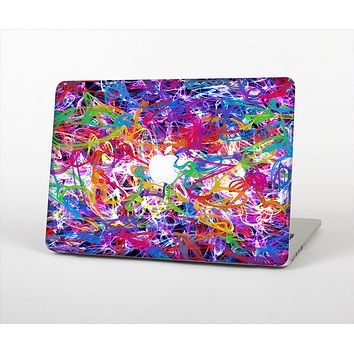 The Neon Overlapping Squiggles Skin Set for the Apple MacBook Air 11""