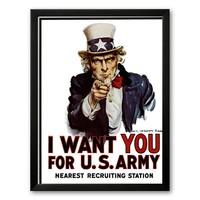 Art.com ''I Want You for the U.S. Army, c. 1917'' Framed Art Print by James Montgomery Flag (Soho Black)