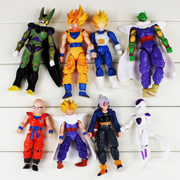 8pc/set Dragon Ball Figure Dolls Dragonball Cute Version Freeza PVC Figurine 12-17cm Free Shipping