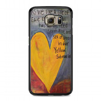 Yellow Submarine Beatles Song Lyrics Canvas For samsung galaxy s6 case