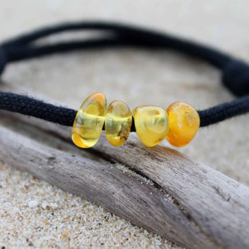 Baltic Amber For Men Friendship Bracelet Honey Yellow Men Jewelry FossilSummer Fashion Adjustable Birthday Gift for Boy Dad Friend