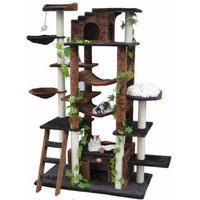 Go Pet Club 77-inch High Brown/ Black Huge Cat Tree | Overstock.com
