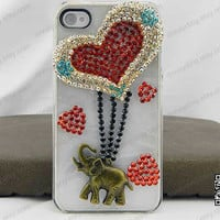 Bling Elephant iPhone Case   Bling Rhinestone iPhone5 Case   Cute Elephant iPhone 4 /4S Case   Bling Samsung Galaxy S2,S3,S4 Elephant Case