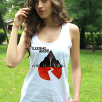 Sleeping With Sirens Tank Top Emo Tee SWS Shirt Clothing Women Tshirt Lady Tank Tops Lady Fit Valueweight Vest Crop Top T Shirt