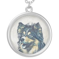 Shetland Sheepdog Painting Necklace