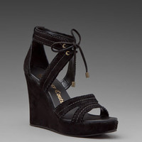JUICY COUTURE Dennie Wedge in Black Suede at Revolve Clothing - Free Shipping!