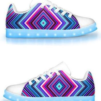 White Illusion - APP Controlled Low Top LED Shoes