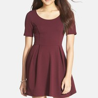 Junior Women's Lush Texture Knit Skater Dress (Online Only)