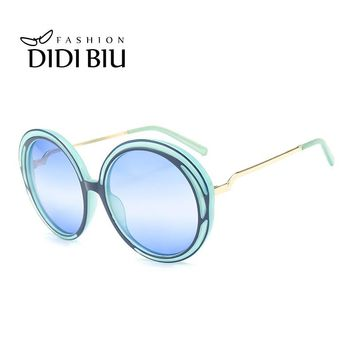 DIDI Big Round Wire Frame Sunglasses Women Men Hipster Transparent Frame Candy Color Spectacles Thin Metal Street Eyeglass W828