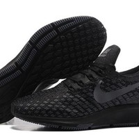 DCCKJG2 Nike Air Zoom Pegasus 35 Black Anthracite & Grey Men's Trail Running Shoes