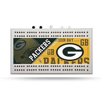 GREEN BAY PACKERS FIELD CRIBBAGE BOARD