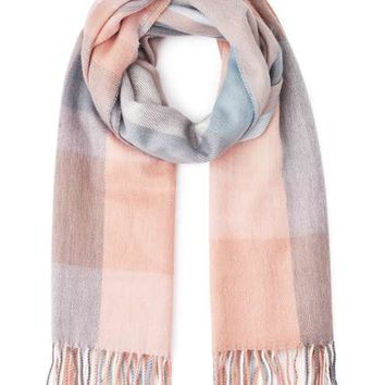 Neutral Checked Scarf - View All - Accessories