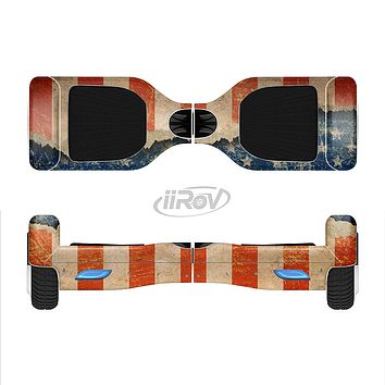 The Scratched Surface Peeled American Flag Full-Body Skin Set for the Smart Drifting SuperCharged iiRov HoverBoard