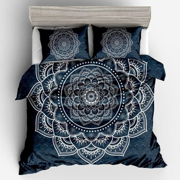 fashion Bohemia Blue red white quilt /Duvet Cover Set luxury Home Textiles  size Twin Full Queen King Bedding Outlet Bedding Set