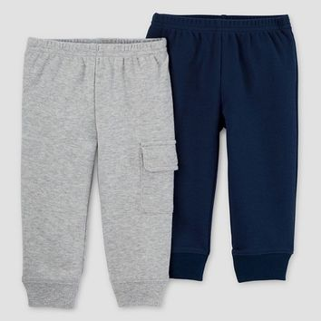 Baby Boys' 2pk Pants - Just One You™ Made by Carter's® Navy/Gray