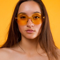 Lola Rimless Sunglasses | Yellow