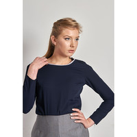 Samantha - Crew Neck Linen Top