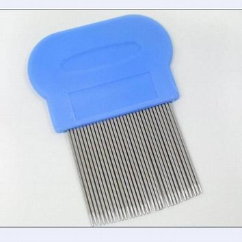 Wholesale 8CM metal stainless steel lice comb detangle dandruff comb hairbrush for hair care cleaning hairdressing styling tool