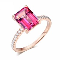 2.8 Carat Pink Topaz Engagement Ring