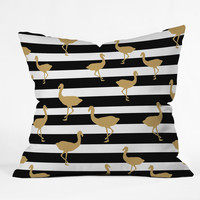 Allyson Johnson Classy Flamingos Throw Pillow