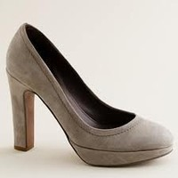 Women's shoes - pumps & heels - Coddington suede platform pumps - J.Crew