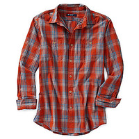 Cremieux Long-Sleeve Plaid Woven Shirt - Red