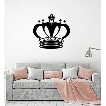 Vinyl Wall Decal King Crown Royal Art Home Decor Interior Room Stickers Mural (ig5814)