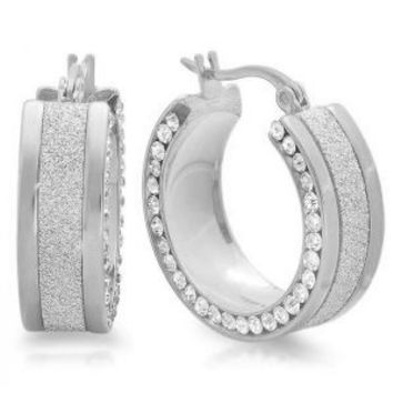 Ladies Stainless Steel Huggie Earrings