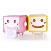 YESSTYLE: Doodles- Smile Face Tissue Box (Pink) (Pink) - Free International Shipping on orders over $150