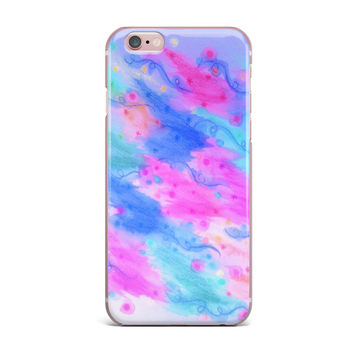 "Ebi Emporium ""Seeing Stars II"" Blue Pink iPhone Case"