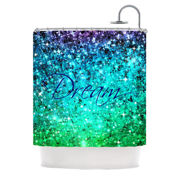 "Ebi Emporium ""Dream"" Blue Teal Shower Curtain"