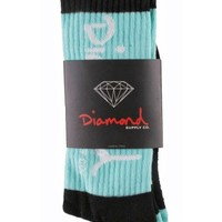 Diamond Supply CO 3 Tone OG Script Knee High Sock
