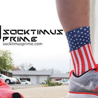 United States of America Flag - Custom Sublimated Socks - Socktimus Prime