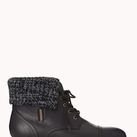 Cozy Faux Leather Booties | FOREVER 21 - 2000075277