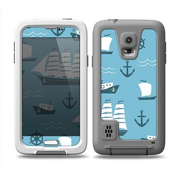 The Subtle Blue Ships and Anchors Skin Samsung Galaxy S5 frē LifeProof Case