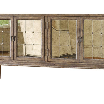 """DeVera 73"""" Mirrored Chest, Cashew, Buffets & Sideboards"""
