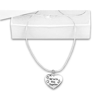 Silver We're In This Together Awareness Necklace for all Causes