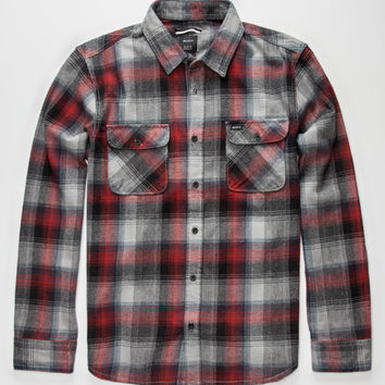 Rvca Highland Mens Flannel Shirt Rose  In Sizes