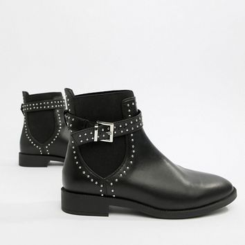 ASOS DESIGN Ascend studded chelsea boots at asos.com