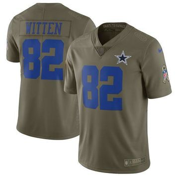 Men's Dallas Cowboys Jason Witten Nike Olive Salute To Service Limited Jersey