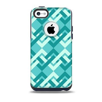 The Locking Green Pattern Skin for the iPhone 5c OtterBox Commuter Case