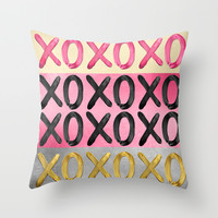 Glamorous XO's Throw Pillow by Perrin Le Feuvre
