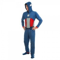 Marvel Comics Captain America Men's Blue Union Suit