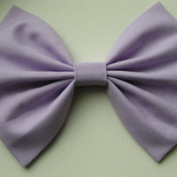 Lavender Fabric Hair Bow, Hair Clip, kids, teens, women, Hair bows,barrettes