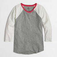 Factory colorblock baseball tee - long sleeve - FactoryWomen's Knits & Tees - J.Crew Factory