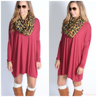 Ellington Wine Piko Dress