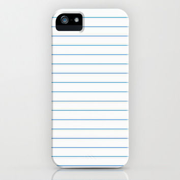 iPhone 5 Case - Notebook Paper Case - unique iPhone case, school supplies iPhone case, hipster iphone, iphone 5 case