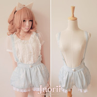 BOBON21 {} sell exclusive original designs Orecchiette Meng Star who meow pumpkin strap Bubble Shorts B0830-Taobao