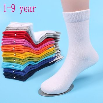 10 pair Of 1-9 year Childrens Sports Socks