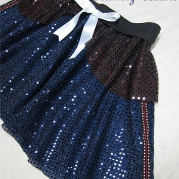 Han Solo Star wars inspired Sparkle Running Misses round skirt Princess Leia, Darth Vader